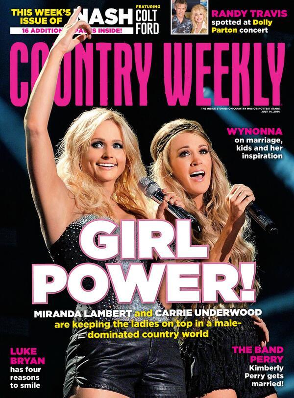 Get our latest issue ft @MirandaLambert & @CarrieUnderwood: GIRL POWER!   http://t.co/K7n2PcpU5n http://t.co/ds7H42ClZu