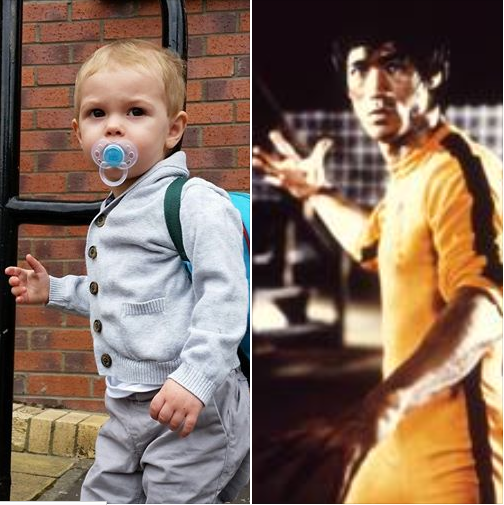 Gotta appreciate the intensity. My one and a half year old imitates Bruce Lee (ok I got lucky) @BruceLeeLegacy #Jake http://t.co/hm9ztFiHQK
