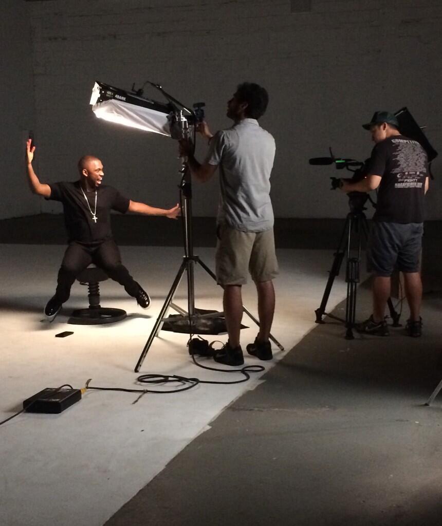 Twitter / curlycomedy: On set w/ funny @JayPharoah ...