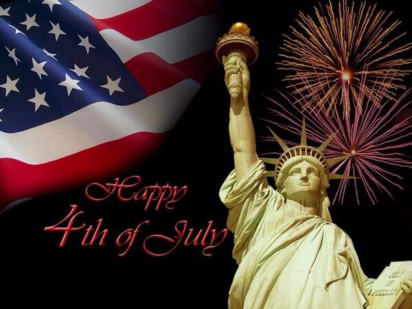 Thank you to all who fight to maintain our right to freedom. God bless you. Happy 4th of July! http://t.co/um2SqpmZ3u