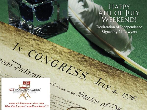 Did you know 24 of the 56 signers of the Declaration of Independence were lawyers? Happy 4th of July weekend lawyers! http://t.co/STqx4PG9o0