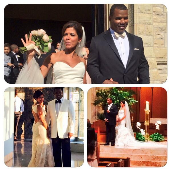 Newly married husband and wife couple: Kenny Williams and Zoraida Sambolin at their wedding ceremony