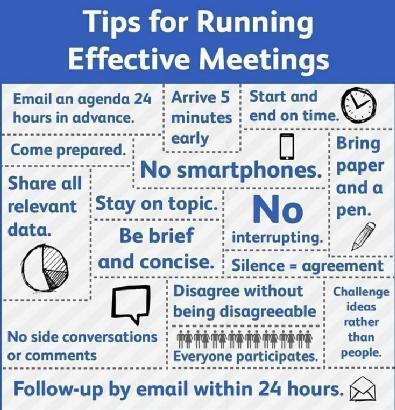 Twitter / JoyAndLife: Tips for effective meetings. ...