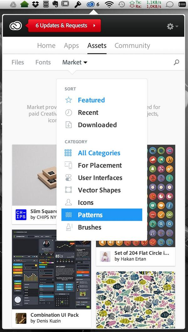 The #CreativeCloud Market is here! Update your desktop app and you'll get access to brushes, patterns, +more http://t.co/AcUvaVCpeF
