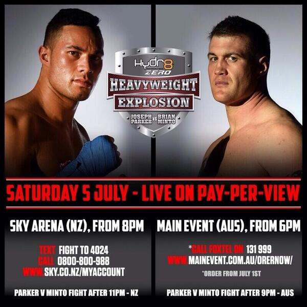 Make sure you're  watching Main Event tomorrow to watch the man @joeboxerparker go at it! http://t.co/N3jMnfMW1i