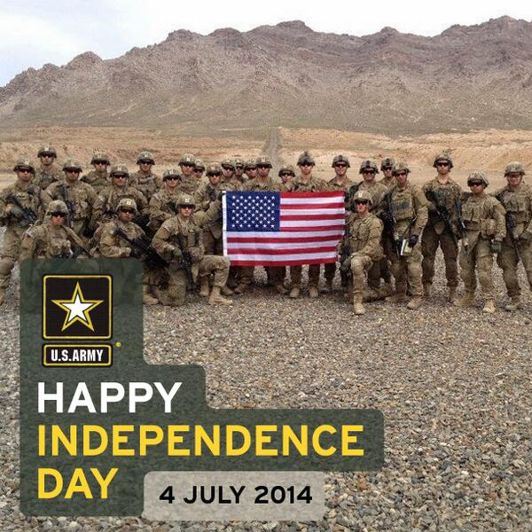 Celebrating #freedom and the #Soldiers who protect it. #IndependenceDay #July4th  #Hooah! http://t.co/8SW2fiW0jU