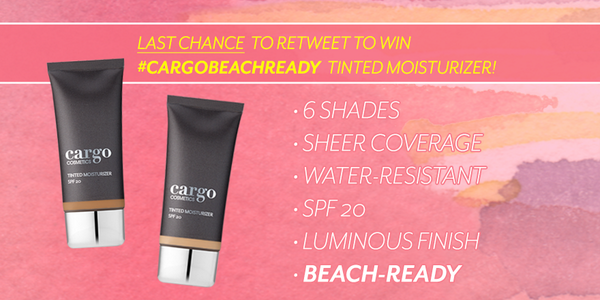 Last chance to enter! RT to WIN our #CargoBeachReady Tinted Moisturizer. http://t.co/LTfURQZ9rz