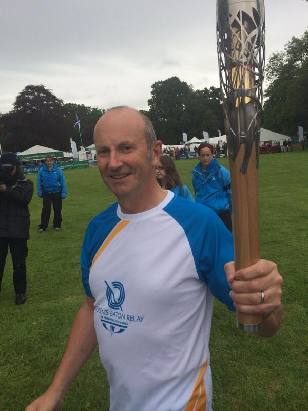 Queens baton arrives at Scottish Game Fair #SHF2014 http://t.co/18oO2gUZft
