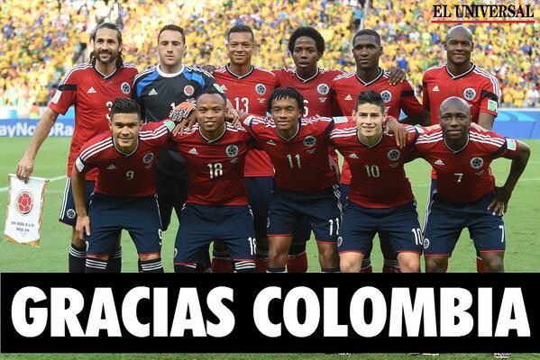 Gracias por dejar el nombre de nuestro país en alto. ¡¡¡Te amamos Colombia!!! http://t.co/QKHK97EvKv