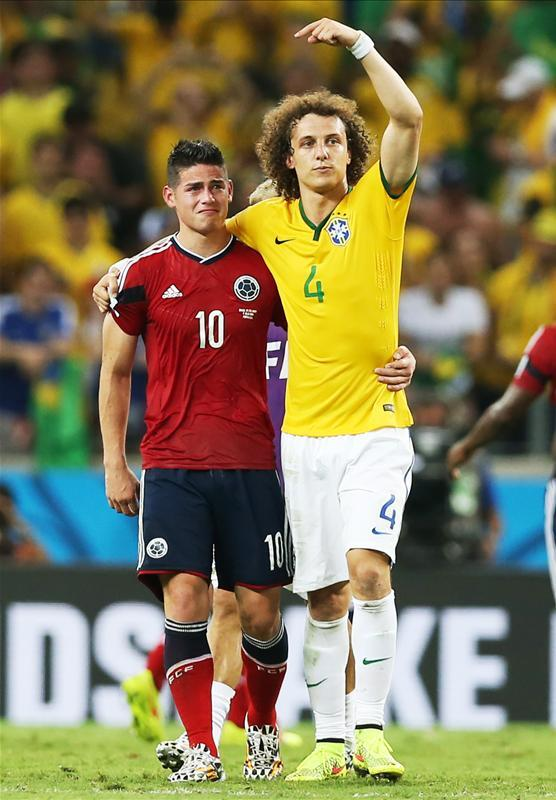 #RESPECT! RT @ThaWorldCup  Great photo of David Luiz and James Rodriguez after the final whistle. #BRAvsCOL https://t.co/3UhKxKd5au