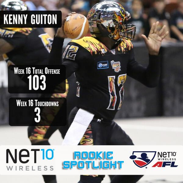 Put on some smooth jazz, @LAKISS_AFL QB @lowKeyG_13 is this week's @Net10_Wireless Rookie Spotlight! #AFL27 http://t.co/9mnOfe1rKe