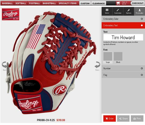 custom baseball glove builder