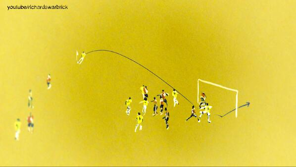 Illustration: Thiago Silva scores for Brazil after seven minutes. #BRAvsCOL http://t.co/Vmo9UUcGNV
