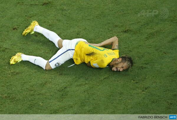 HUGE Brazil Blow: Neymar is ruled out of the rest of the World Cup with fractured vertebrae