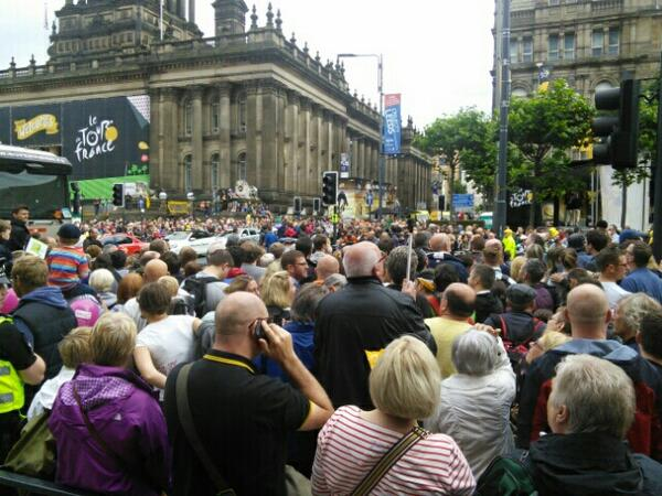 Is this the most packed the Headrow has ever been for #TdFLeeds? http://t.co/SKlI9JRwXi