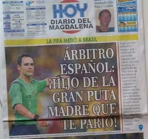 Por si se perdieron hoy la tapa de este diario colombiano. http://t.co/u9rseSrR4Z