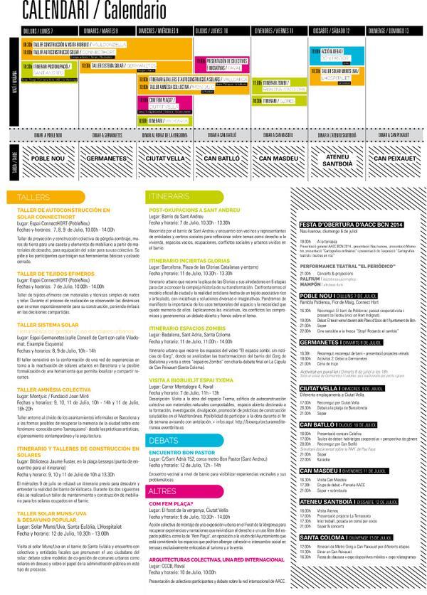 El programa del encuentro de @aacc_net Barcelona 2014 (1). #aacc_bcn #aacc_net http://t.co/9ETh6BMbBb