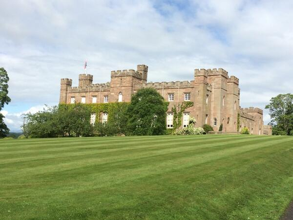 Scone Palace in Perth today at Scottish Game Fair http://t.co/qQ4AZ06TpP