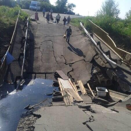 На Луганщине взорван мост через Северский Донец, - МВД - Цензор.НЕТ 7644