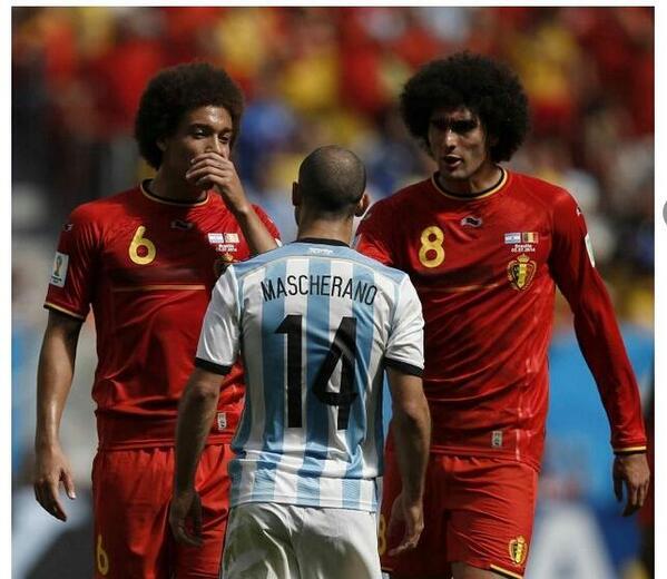 Witsel (6) + Fellaini (8) hacen un Mascherano (14) Bestial tarea @Mascherano Entrega conmovedora.  http://t.co/hw6MBJSK58