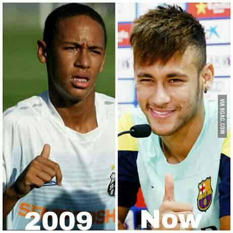 There has been controversy about footballer Nemar's skin colour,look at these pictures and decide if Neymar is bleaching and whitening his skin or not