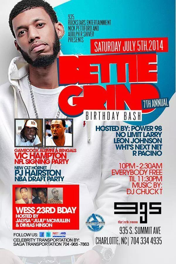 21+ TONIGHT @BETTIEGRIND 7TH ANNUAL B-Day Bash @Club935 Hosted by @Power98fm @Noleezy http://t.co/UnENlYA7FJ