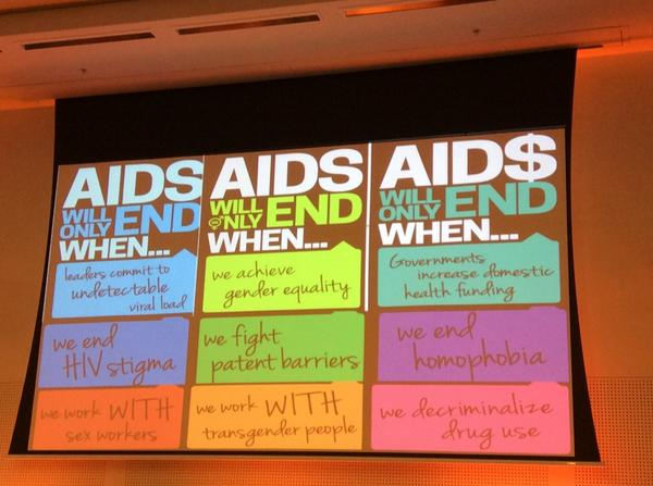 AIDS will only end when... #AIDS2014 http://t.co/OIksFMi5ew
