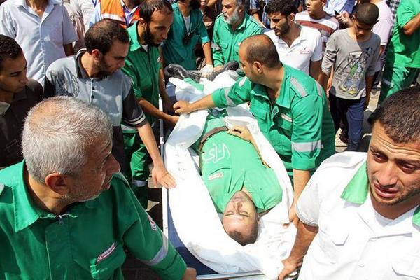 Fuad Jaber, a paramedic,  was targeted directly by #Israeli troops. #GazaUnderAttack http://t.co/DvWwywX67w