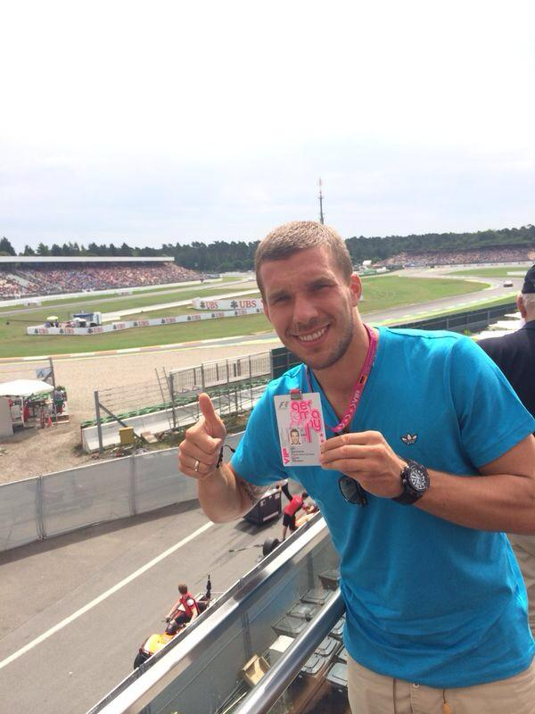 Hello from Hockenheim!Big fun to see a #formula1 race live again!!Hope to see a German champion today! #poldi #lp10