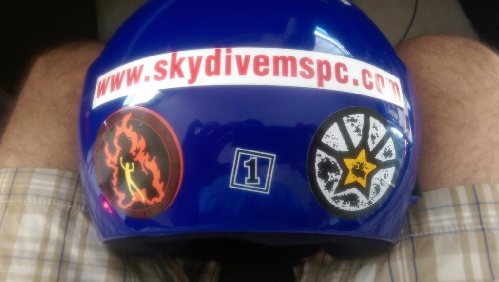 Twitter / AdamTuttle: Skydiving helmet just got 150% ...