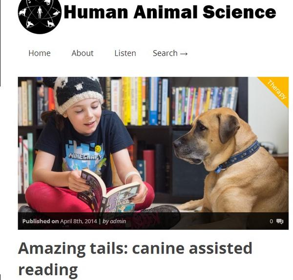 Amazing tails of children and canine assisted reading @HumanAnimalSci http://t.co/VvStP0Nr09 #CSFFSF2014 http://t.co/py7QMYEYC9
