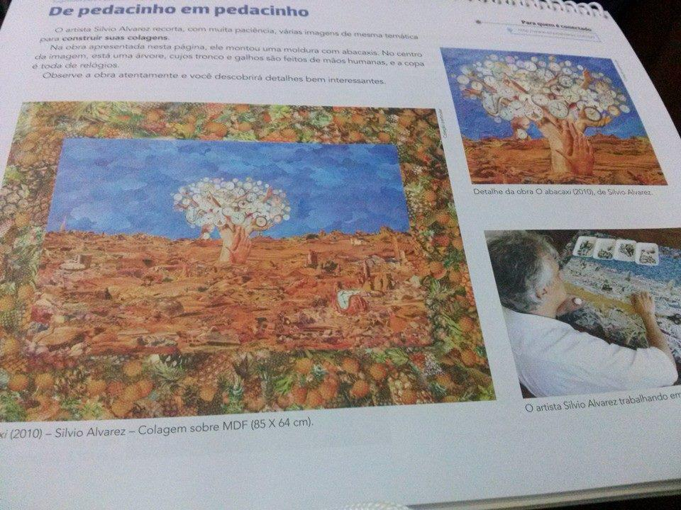 O meu trabalho de collage no livro didático: A Arte de Fazer Arte - Editora Saraiva http://t.co/C3f5L70OZe