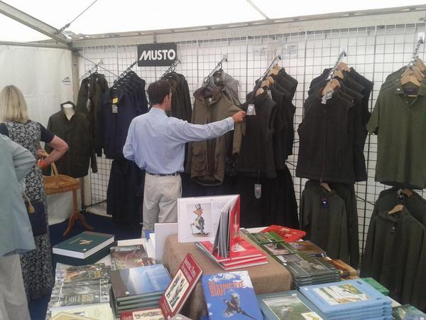 Great range of clothing, books and much more at GWCT stand at CLA Game Fair #clagf http://t.co/wPTvTrgten