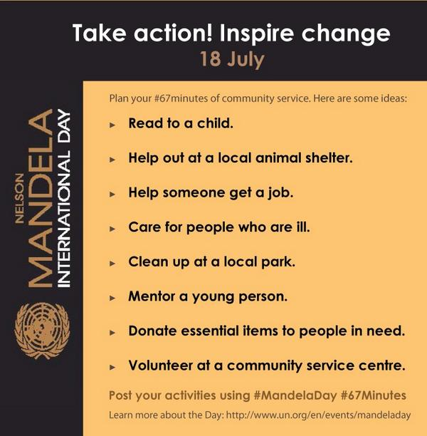 Thumbnail for Mandela Day - #67minutes of service