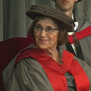 Prof Anne Treisman, who is receiving an honorary degree at #UoYGraduation. http://t.co/nr1xCpa2rQ