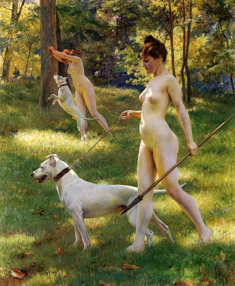 Nymphs Hunting