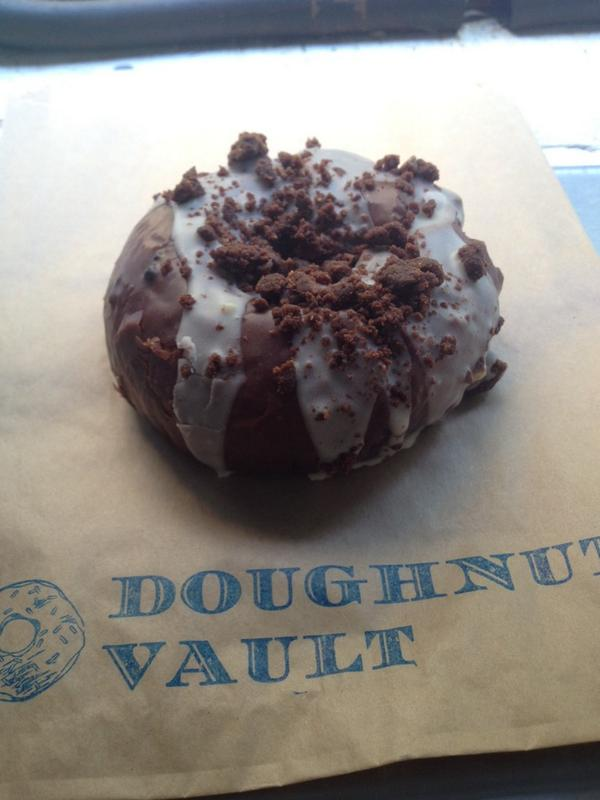 It's a doughnut with brownies on it. You can't argue with that. Now at #VaultVan at 600 W Chicago. #browniesoftie http://t.co/35YiJaigBD