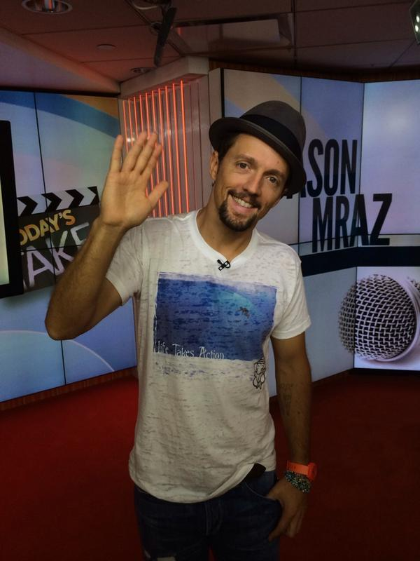 Coming up... We&#39;ll chat with @jason_mraz! #JasonMrazTODAY <br>http://pic.twitter.com/DNxvLqIt91