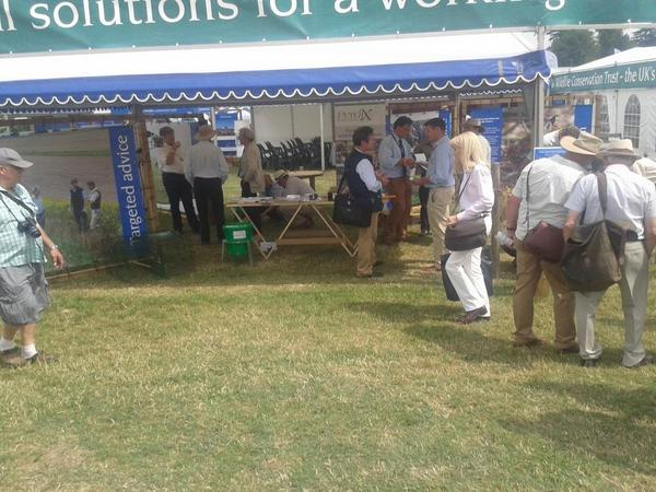 GWCT advisory team on the stand at the CLA Game Fair #clagf http://t.co/xTip5IR151