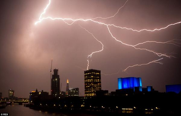 @ITV tower had a new source of energy last night... via @rexfeatures http://t.co/vEw0weW7DT