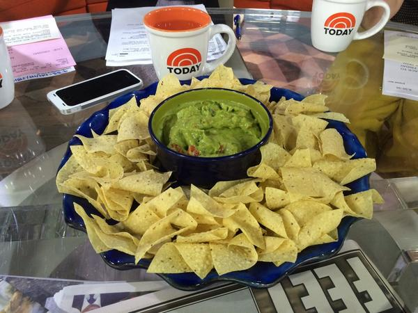 Chips and guacamole in studio this morning to make avocado farmer @jason_mraz feel right at home! #JasonMrazTODAY <br>http://pic.twitter.com/f1qDJHkCS6