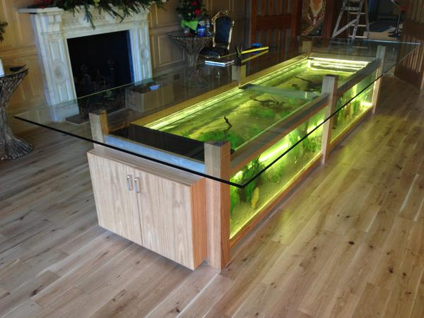 Aquarium dining table 35 aquariums and custom tropical fish tanks for unique interior design - Fish tank dining room table ...