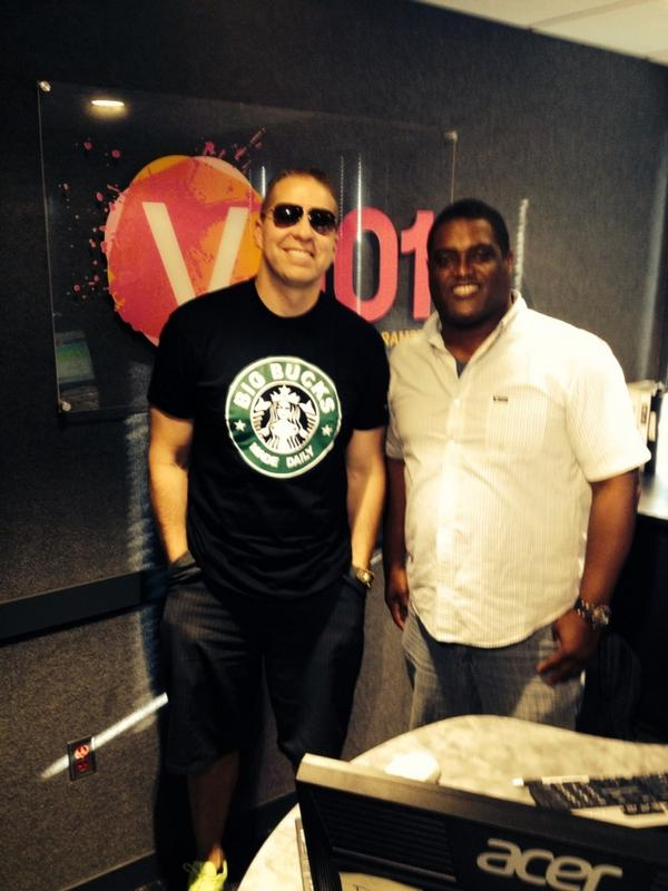 Big Up to @GaryOwenComedy for stopping by @V101fm #GoodPeople http://t.co/yVMxU4IPMd