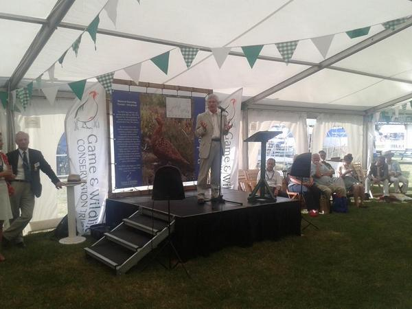RSPB chief exec Mike Clarke speaking at GWCT stand at CLA Game Fair http://t.co/jxFS04to5V