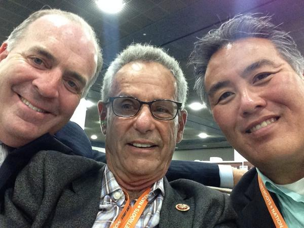 Congressional selfie at #NN14! (cc: @RepLowenthal & @RepMarkTakano) http://t.co/lSnmpHCh2w
