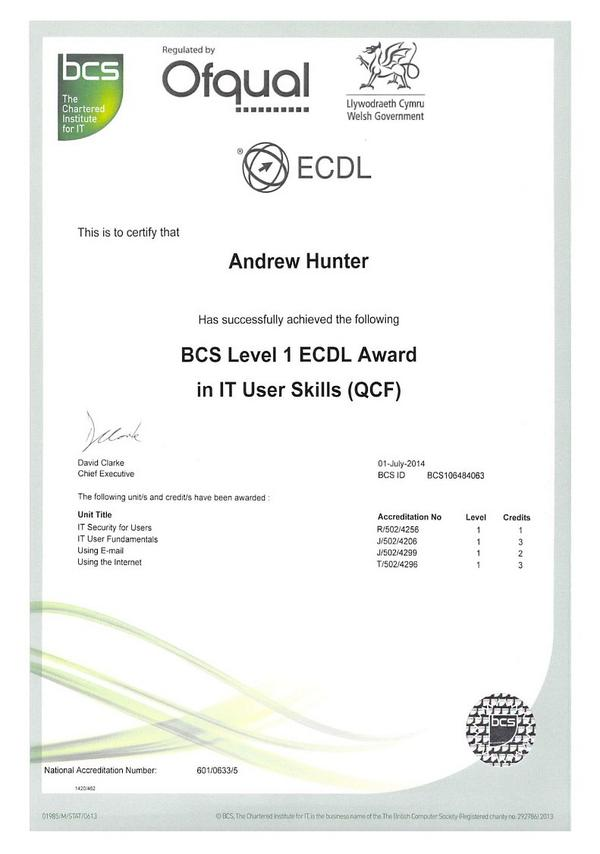 Level 2 certificate for it users