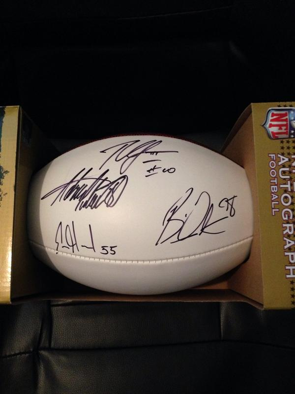 WEEKLY DRAWING: Win Autographed Football by AP, RGIII, Brian Orakpo, & Jerry Hughes!
