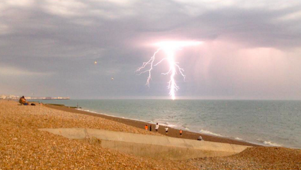 Lightning off Brighton Beach