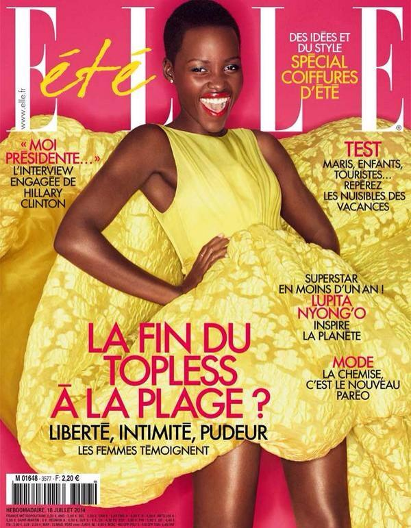 Lupita Nyongo is the cover girl for ELLE France