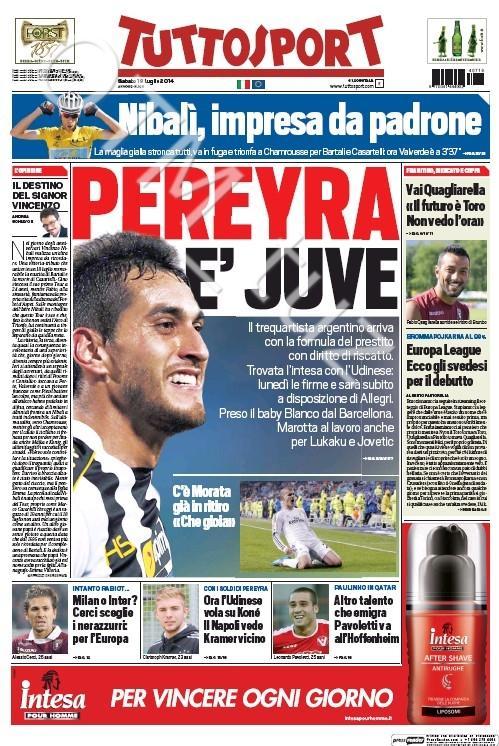 Juventus weighing up bids for Chelseas Romelu Lukaku and/or Man Citys Stevan Jovetic [Tuttosport]
